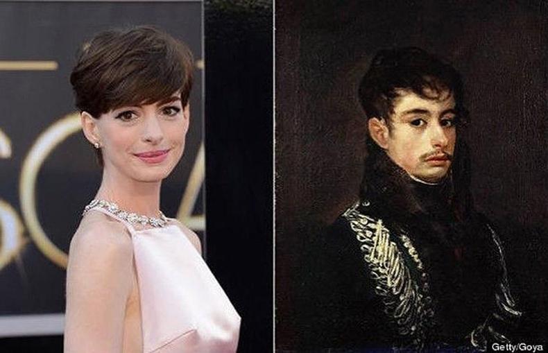 """Энн Хэтэуэй ба Франциско Гойягийн """"Офицер"""" хөрөг (Anne Hathaway)"""