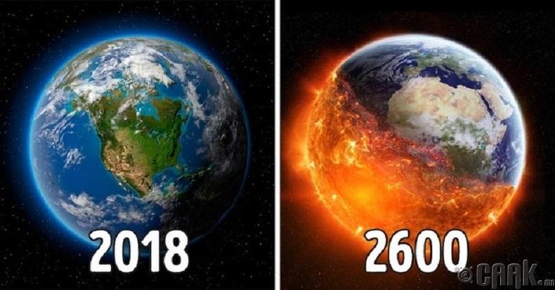 Дэлхий галт бөмбөг болон хувирна