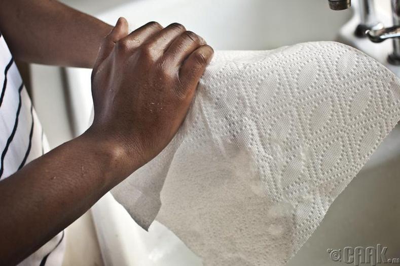Гараа угаасны дараа арчдаггүй