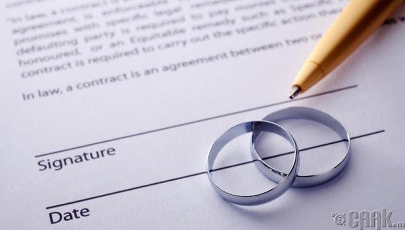 Гэрлэлтийн гэрээ