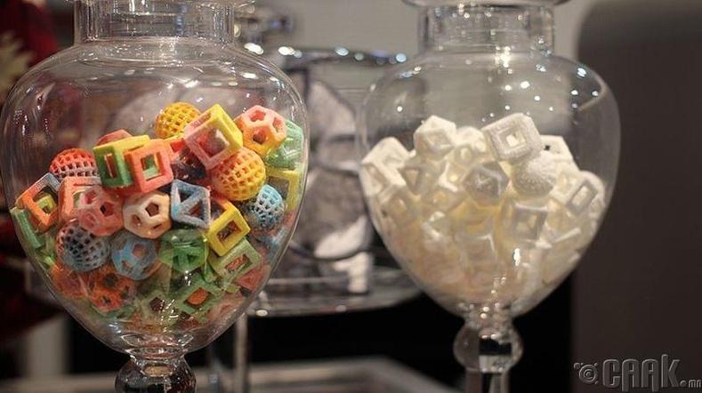 3D-ээр хэвлэсэн чихэр
