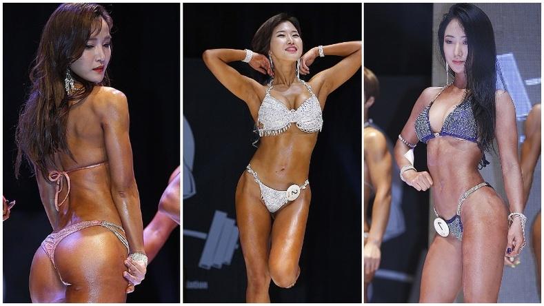 Өмнөд Солонгосын фитнес моделиудын халуухан үзүүлбэр