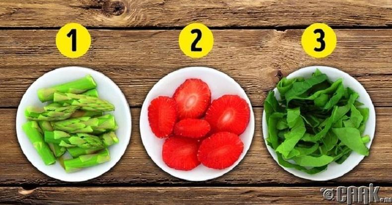5 төрлийн өнгийн хоол хүнс