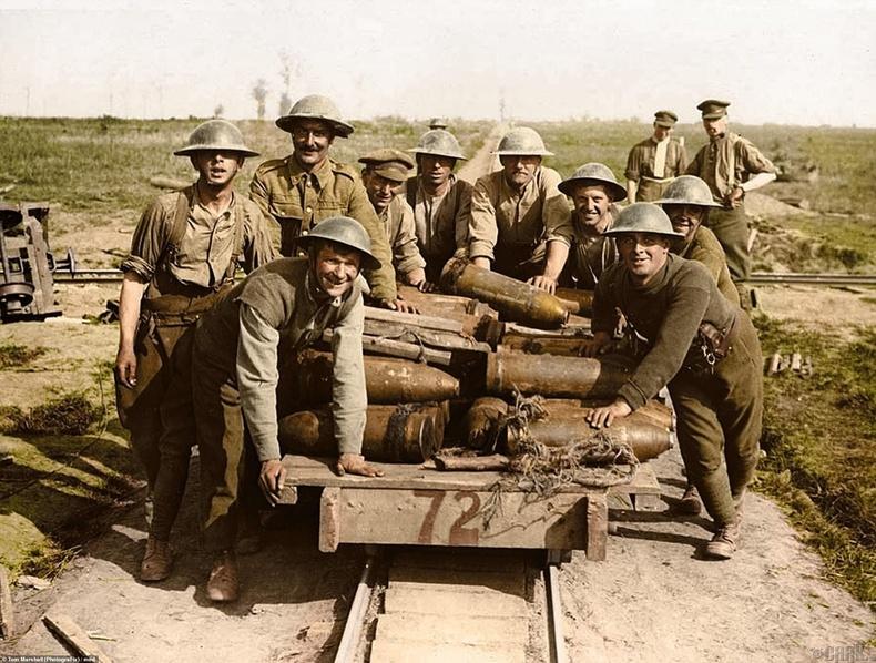 Их бууны гарнизоны цэргүүд, Бельги, 1917 оны 10 сарын 1