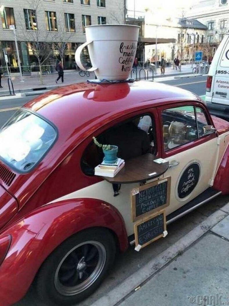 Машин дээрх кофе шоп
