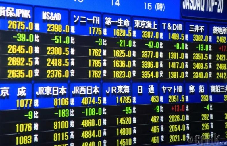 Японы хөрөнгийн биржийн гаргасан алдаа