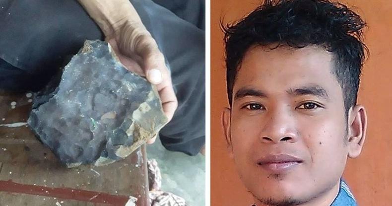 Гэрийнх нь дээврийг цөмлөн унасан солир Индонези залууг 2 сая доллартай болгожээ