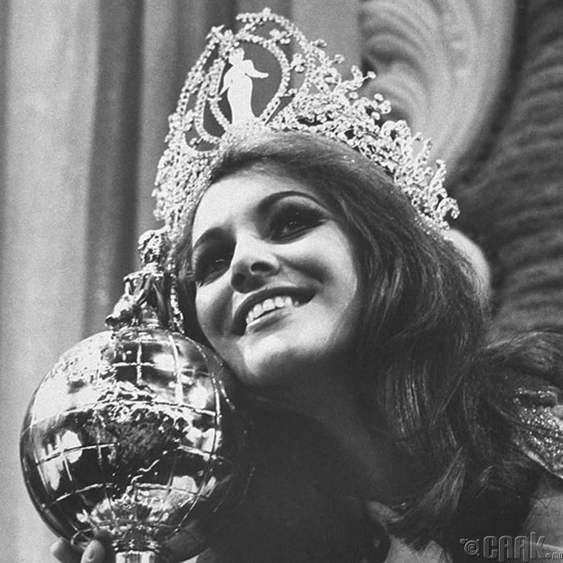 """Miss Universe-1968""-ын ялагч: Бразилын гоо бүсгүй Марта Васконцелос, 20 настай, 172 см өндөр."