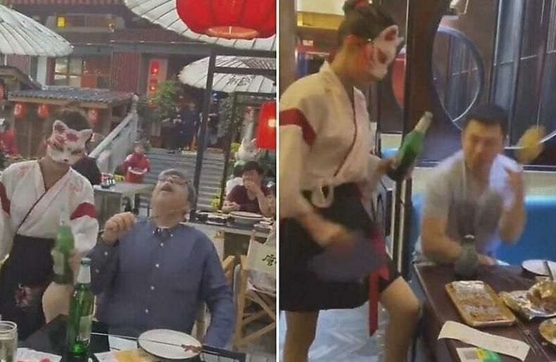 Хятадын нэгэн ресторан шар айраг онгойлгох өвөрмөц арга сэджээ...