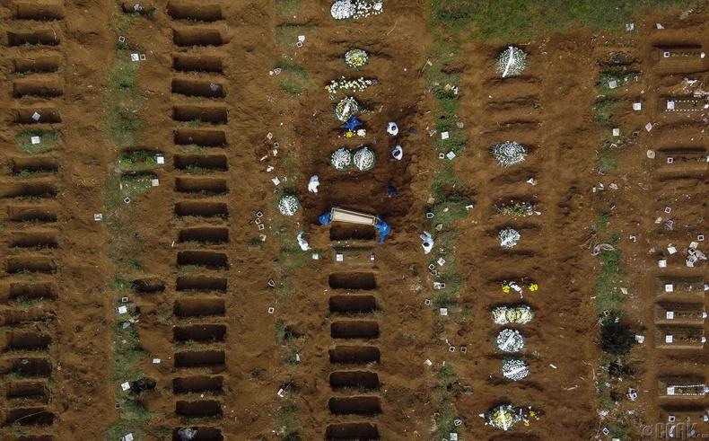 Вила Формоса оршуулгын газарт шинээр ухсан булшнууд, Бразил, 4 сарын 1