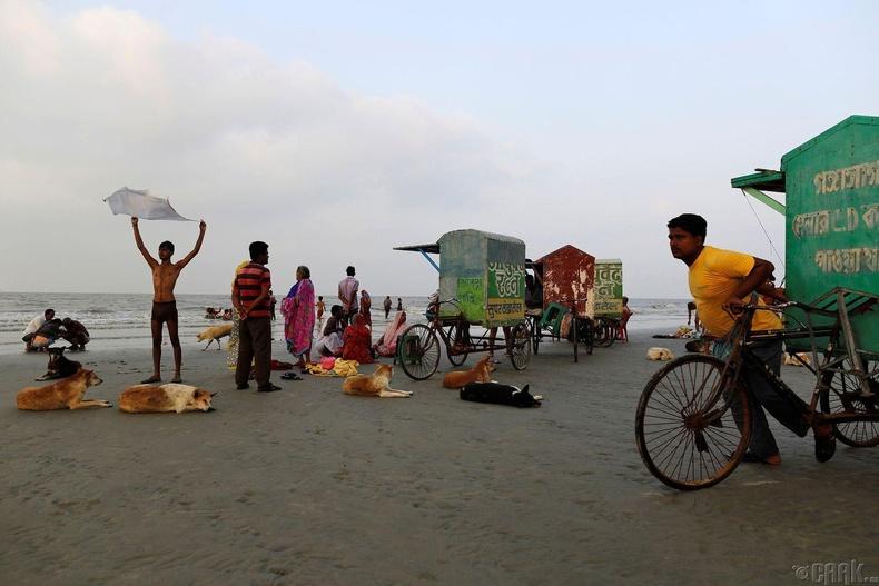 Ганга мөрний цутгадаг Бенгалын булангийн Сагар арал дээрх мөргөлчид