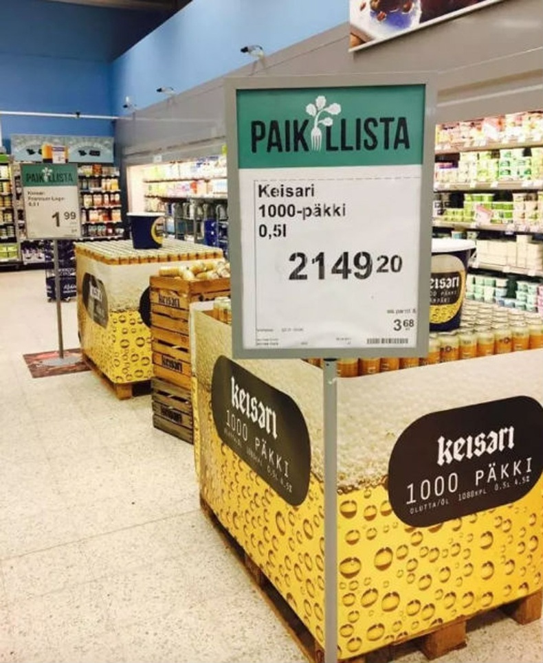 Та Финландад нэг авдранд 1000 лаазтай пиво худалдан авч болно