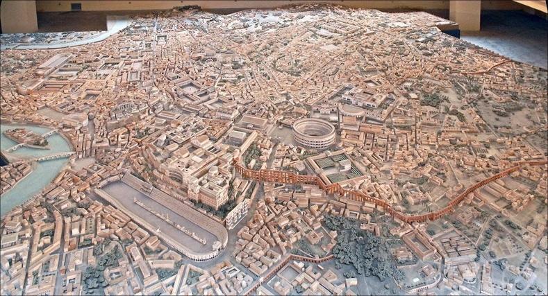 Эртний Ром хотын бүтэн макет