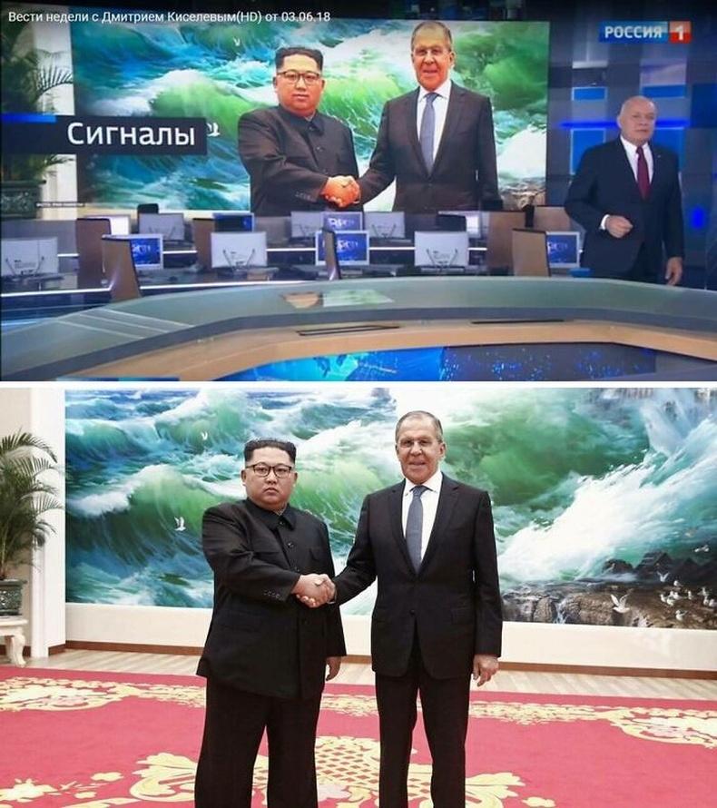 Оросын төв телевиз Ким Жон Уныг инээмсэглэж буй болгон фотошопджээ