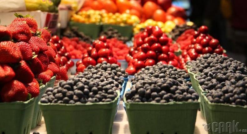 Цитрусын бус төрлийн жимснүүд