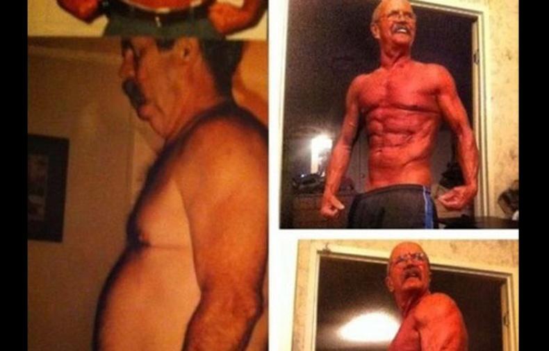 64 настай супер хүчтэй өвөө