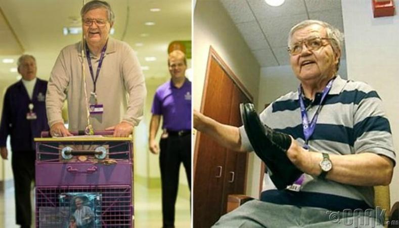 Альберт Лекси 36 жил хүүхдийн Питтсбург эмнэлэгт гутал цэвэрлэж байна