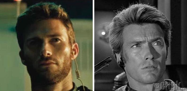 Скотт Иствуд (Scott Eastwood) болон жүжигчин Клинт Иствуд (Clint Eastwood)