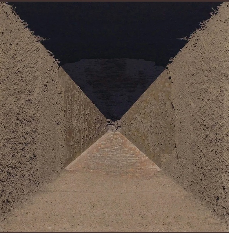 Египетийн пирамид эгц дээрээсээ