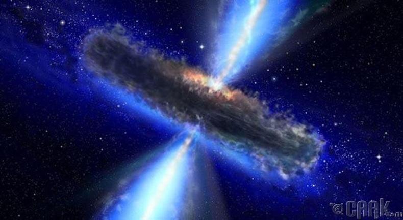 Биднээс маш хол орших квазарт асар их хэмжээний усны нөөц бий