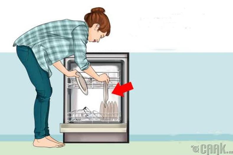 Аяга угаагч машиндаа буруу зүйлс хийдэг