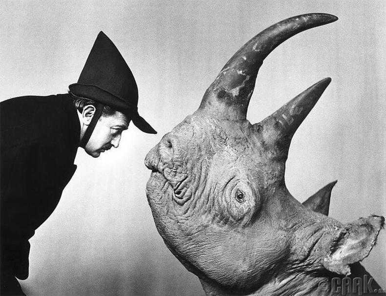 Сальвадор Дали, хирсийн хамт, 1958 он