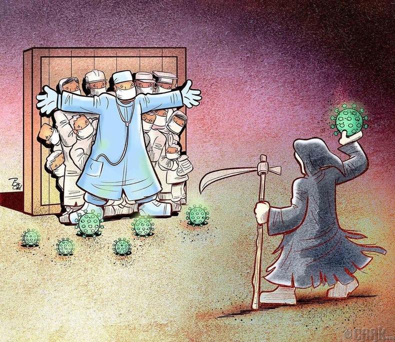 Ираны зураач Алирез Пакделийн бүтээл