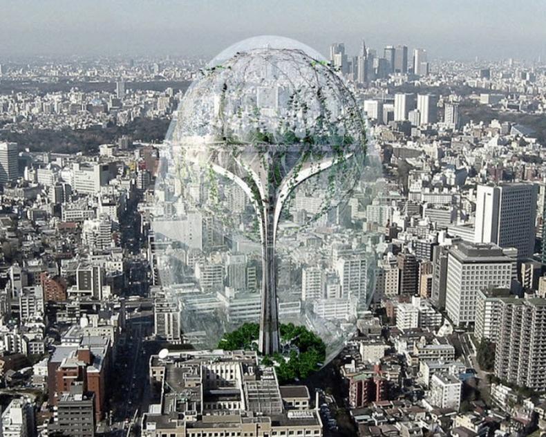 Ирээдүйн тэнгэр баганадсан барилгууд