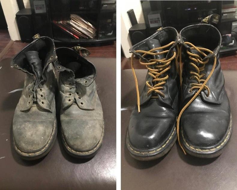Хуучин Dr.Martens гутлыг өнгөлж зассаны дараа
