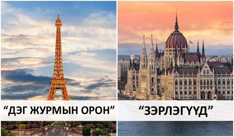 Улс орнуудын нэр Хятад хэлэнд хэрхэн орчуулагддаг вэ?