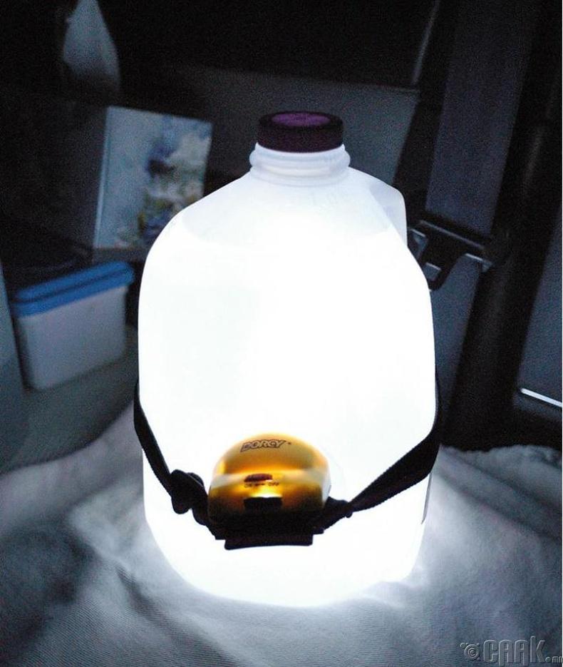 Гар чийдэн болон цагаан өнгөтэй усны саваар дэнлүү хийгээрэй