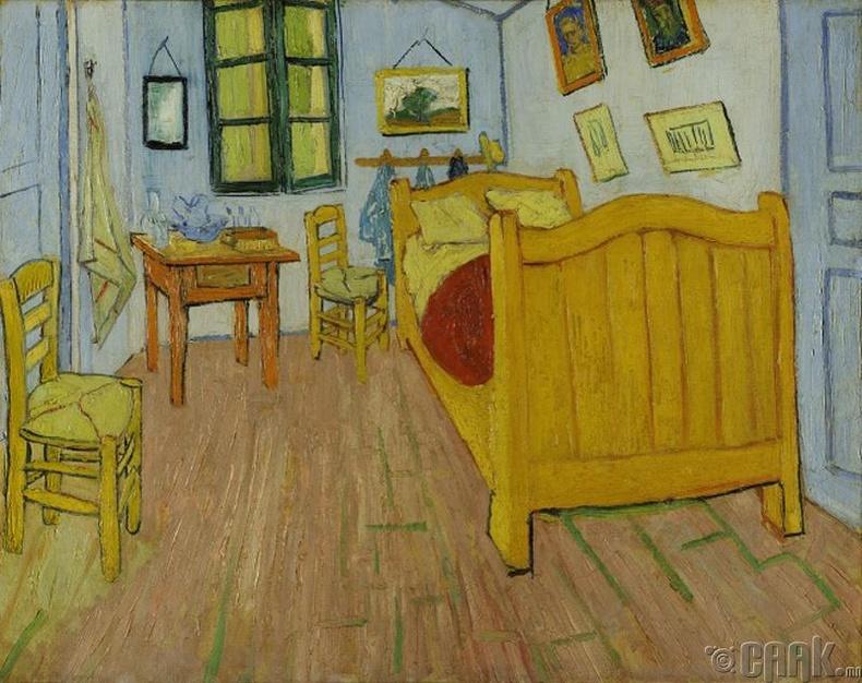 Винсент ван Гог (Vincent van Gogh)-ийн  шар унтлагын өрөө