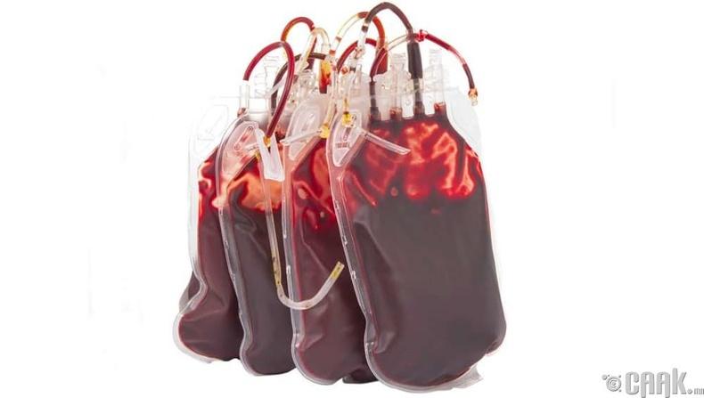 Хүний цус- 57 литр= 335 доллар