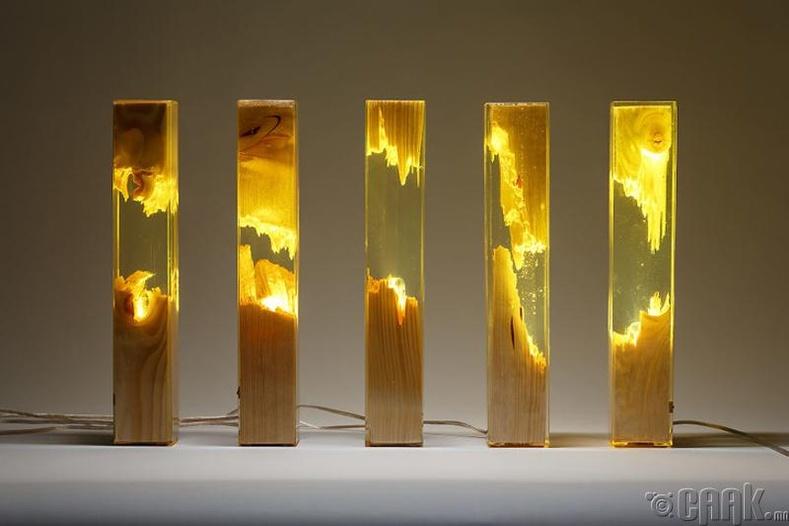Модны үртсээр хийсэн гэрэл