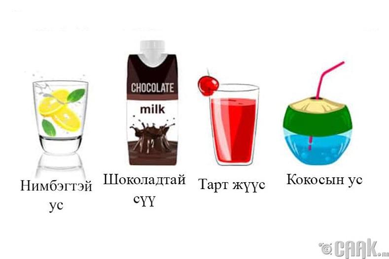 Тэгвэл юу уух ёстой вэ?