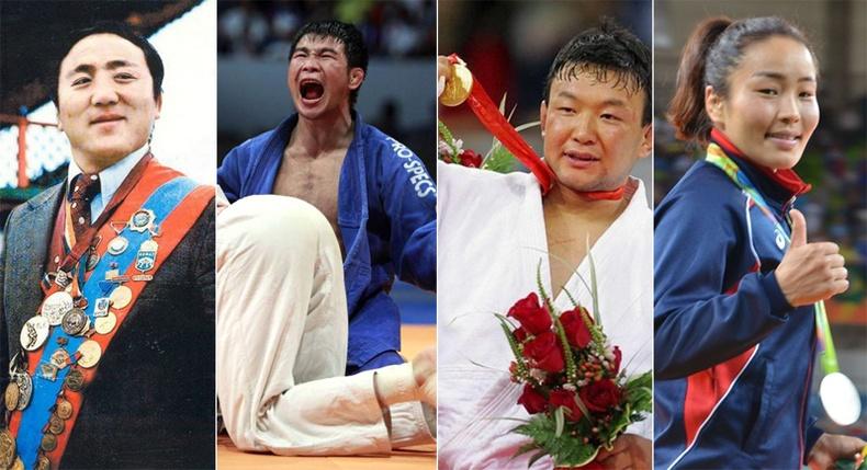 Олимпын тэнгэрт төрийн далбаагаа мандуулсан Монголын бахархлууд