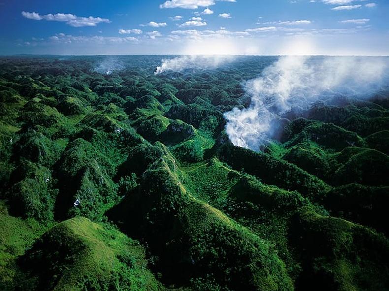 Лос Хаитис үндэсний цэцэрлэгт хүрээлэнд гарсан ойн түймэр - Доминиканы Бүгд найрамдах улс