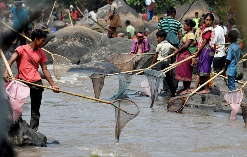 Энэтхэгчүүдийн загас барих харгис уламжлал