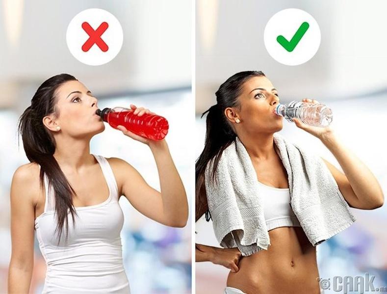 Шар айраг, чихэртэй ундаа нь цангахыг болиулдаг