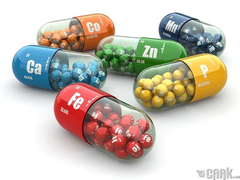 Эрдэс бодис, витаминыг мартаж болохгүй