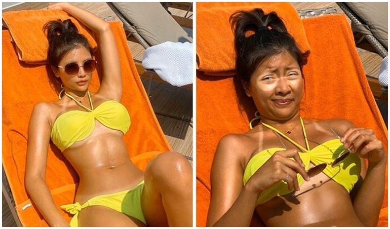 Инстаграм дээрх зураг ба бодит амьдралын ялгааг хөгжилтэйгээр үзүүлдэг Тайланд бүсгүй