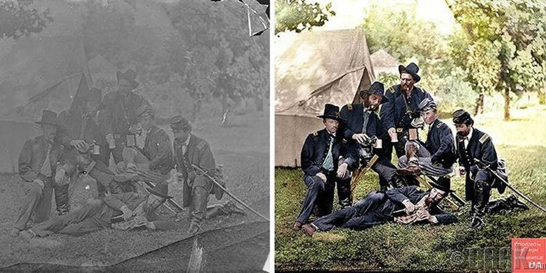 Пеннсилваний морин цэргийн 3,4-р хорооны офицерууд Америкийн иргэний дайны үеэр, 1862 он
