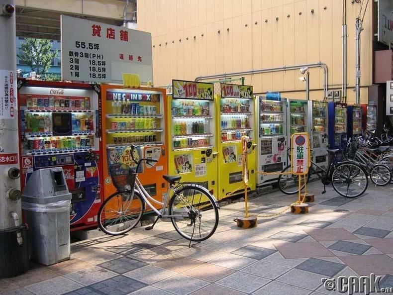 Япон худалдааны автомат машины орон