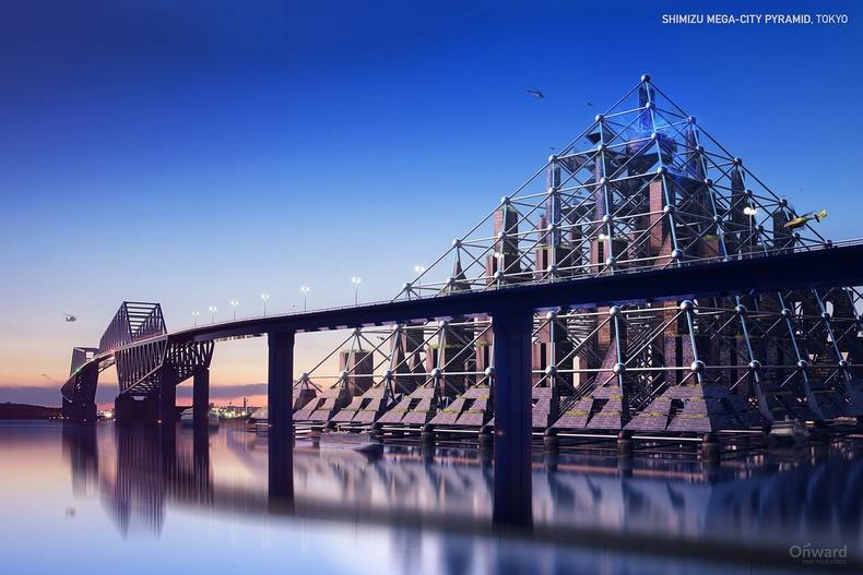 """""""Shimizu Mega-City"""" пирамид, Токио"""