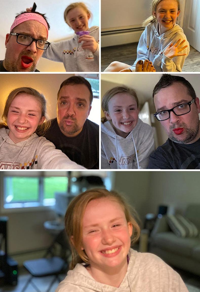 Зав нь багасч, охиноосоо хөндийрөөд байгааг мэдэрсэн аав түүнийгээ инээлгэхийн тулд бүх цагаа зарцуулах болжээ