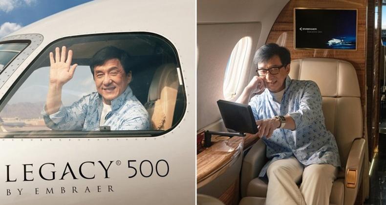 Жеки Чаны шинэ хувийн онгоцтой танилц