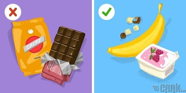 Эрүүл мэндэд сөрөг нөлөөгүй хоол хүнс хэрэглэх