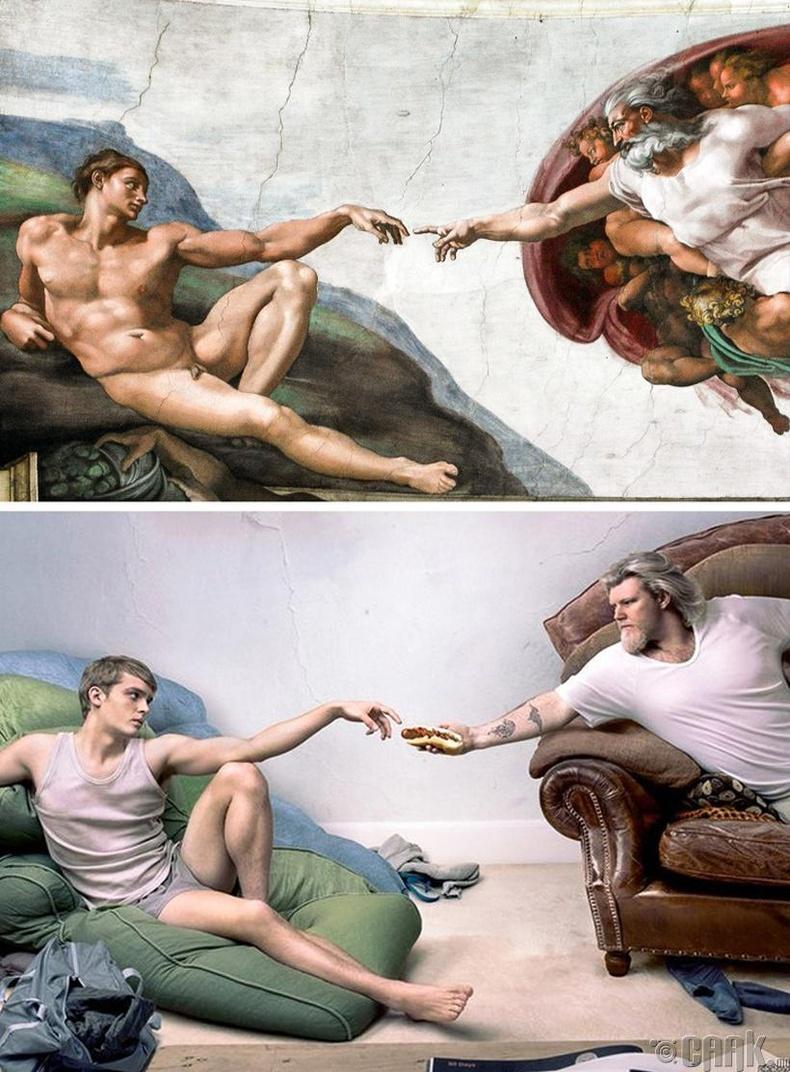 """Микеланжело - """"Адамыг бүтээсэн нь"""""""