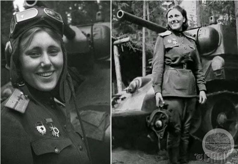 Зөвлөлтийн танкийн ангийн командлагч Александра Самусенко (Alexandra Samusenko)