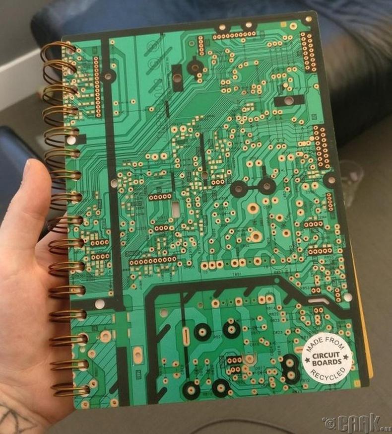 Хуучин эх хавтангаар тэмдэглэлийн дэвтрийн хавтас хийжээ